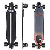 Teamgee H5 Longboard Électrique - Skateboard Électrique Adulte Untra-Mince avec Télécommande sans Fils, Moteurs Doubles 760W, Vitesse Maximal 35km/h Autonomie 15km-18km