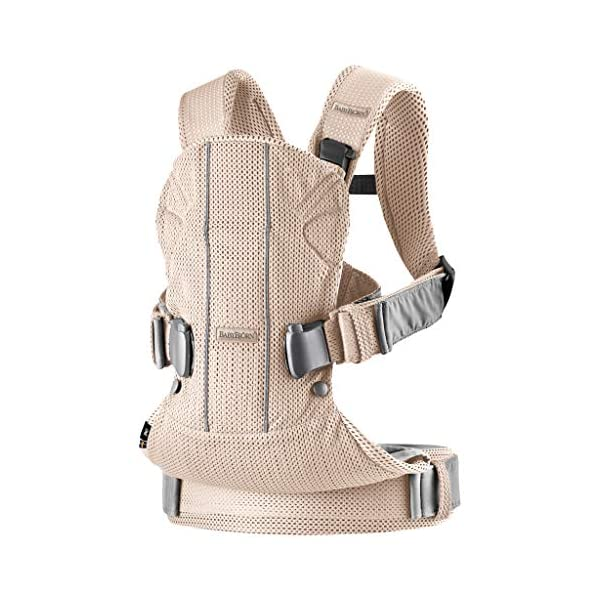 BABYBJÖRN Baby Carrier One, Cotton Mix, Black, 2018 Edition Baby Bjorn The latest version with soft and breathable mesh that dries quickly Ergonomic baby carrier with excellent support 4 carrying positions: facing in (two height positions), facing out or on your back 3