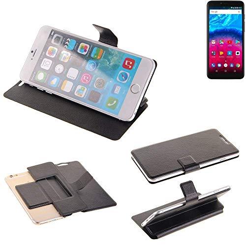 K-S-Trade Schutz Hülle für Archos Core 57S Schutzhülle Flip Cover Handy Wallet Case Slim Handyhülle bookstyle schwarz