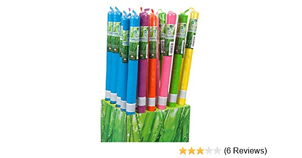 Large Citronella Garden Candle Torches Random Colours Packs of  4 6 8 or 10