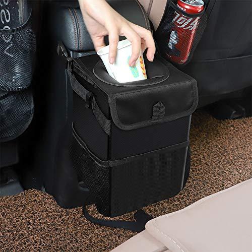 NOKEE Kreative Falten Auto Aufbewahrungsbox Wasserdicht Hinten Aufbewahrungsbox Auto Mülleimer Mülleimer - Öffnen Seat