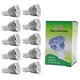 ITALASA 10X GU10 Ampoule LED 5W Haute Puissance Ampoule Lampe Blanc Chaud 3000K Tres Bright 350LM LED Light Bulb AC85-265V