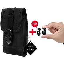 xhorizon(TM)1000D Nylon Ejército Camo táctico de MOLLE Multipropósito al aire libre que acampa yendo en Viaje Smartphone pistolera lleva la caja de la bolsa bolso de la cintura con lazo de cinturón