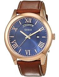 Guess Herren-Armbanduhr Analog Quarz Leder W0792G2