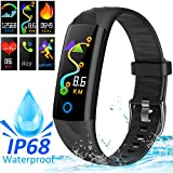 AMENON IP68 Smart Watch Fitness Tracker, rastreador de Actividad Deportiva con Ritmo cardíaco Presión Arterial Sleep Monitor Calorie Podómetro Smart Wristband para niños Mujeres Hombres Madre