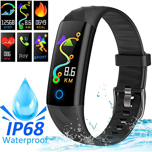 AMENON IP68 Smart Watch Tracker di Fitness, Tracker di attività con Monitor della Pressione Arteriosa della Frequenza Cardiaca Sonno Calorie Pedometro Sport Watch per Bambini Donne Uomini Madre