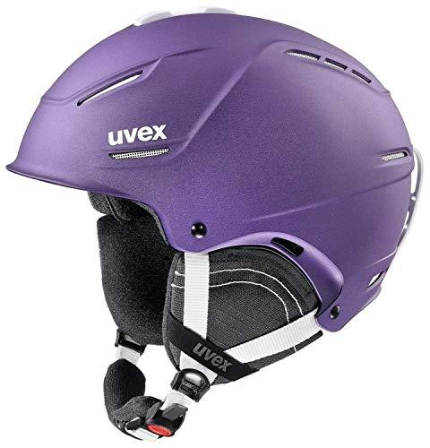 uvex p1us 2.0 Skihelm - deep violett mat, Kopfumfang:S - L (55-59cm)