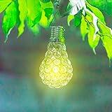 MMLC Wasserdichter Drehbarer Garten Kampierende Hängende LED Licht Lampen Birnen Im Freien Beleuchtung Lichter (Silber)