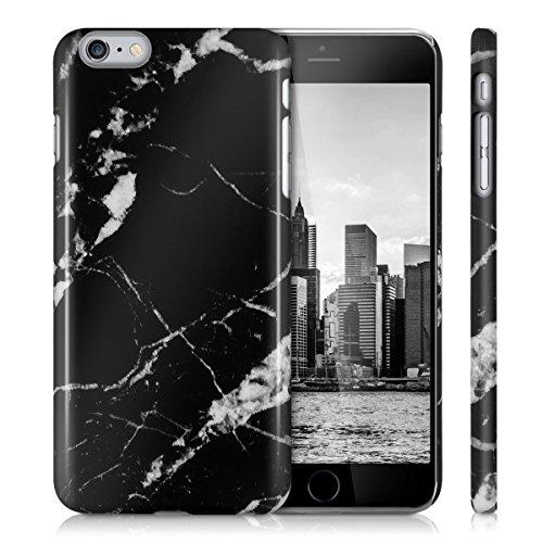 kwmobile Hülle für Apple iPhone 6 Plus / 6S Plus - Backcover Case Handy Schutzhülle Kunststoff - Hardcase Cover Marmor Design Schwarz Weiß Marmor Schwarz Weiß