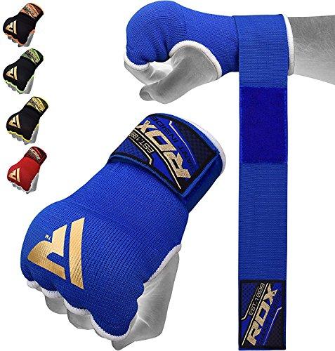 RDX Fasce Boxe Bende Per Mani Polsi Elastiche Pugilato Bendaggi MMA Guanti Interi Sottoguanti, Blu