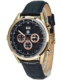 Constantin Durmont Herren-Armbanduhr XL Carson Analog Automatik Leder CD-CARS-AT-LT-RGRG-BK