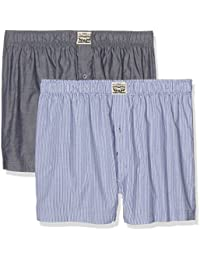 Levi's Men's 300ls Striped Chambray Woven Boxer 2p Boxer Shorts