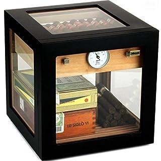 Adorini Humidor Cube Deluxe schwarz inkl. Lifestyle-Ambiente Tastingbogen