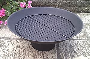 Cast iron fire pit fireplace brazier fp065l for Amazon prime fire pit
