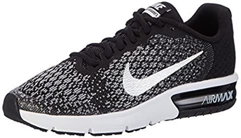 Nike Air Max Sequent 2 Gs, Children and boys Sneakers, Black (Black/mtlc Silver/dk Grey/wolf Grey/volt), 5 UK (38 EU)