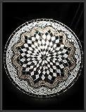 Mosaik - Deckenlampe Wandlampe NEU & Mosaiklampe orientalische lampe Silber Samarkand-Lights