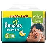 Pampers Baby Dry Taglia 3 Midi 4-9kg Jumbo Plus Pack 90 pannolini