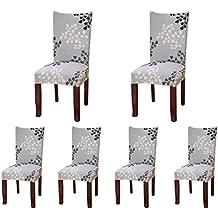 6 X Housse De Chaise SindeRay Universelle Extensible Pour Dcoration Moderne