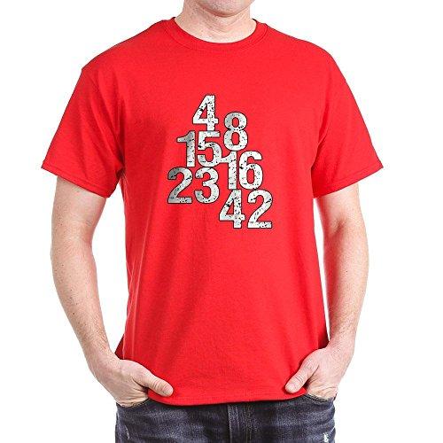 CafePress Ausgehöhlt Lost Zahlen–T-Shirt Aus 100{d1b4554801ca684631c42a1396115fffe3ed9fc718d10ed5affdd31bbd4d581c} Baumwolle Gr. Medium, Rot