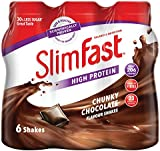 SlimFast Chunky Chocolate Shake Multipack Bottle, 325 ml - Pack of 6