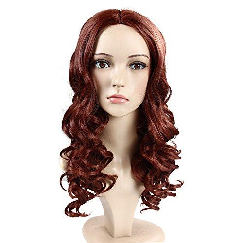 ockige Perücken Für Frauen Beste Synthetische Haarteil Kostüm Sehr Natürlich Aussehende Beste Billige Perücken,Red (Billige Blaue Halloween Perücken)