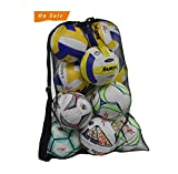 Extra Large Sports Drawstring Mesh Ball Bag Football Training Equipment Storage Bag Diving Goods Organizer With Shoulder Strap Size:29.5x40inches Color: Black Material:Polyester Mesh  Closure: Drawstring  Pack: one piece ball bag  This Sports equipme...