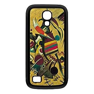 Points by Kandinsky Coque Silicone Noire Snap-On Protection Arrière Caoutchouc pour Galaxy S4 Mini de Painting Masterpieces + Livré avec une protection d'écran GRATUITE