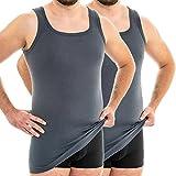 Funzione HERMKO 63027 2 Pack sotto camicia uomo extra lungo