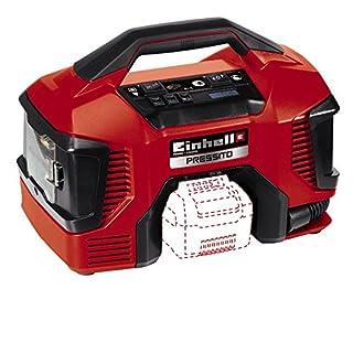 Einhell Akku Kompressor Pressito Power X-Change (Li-Ion; 18 V; Hochdruck-, Niederdruckpumpe + Niederdrucksaugfunktion; inkl. 3-tlg. Aufblas-Adapter-Set; ohne Akku und Ladegerät)