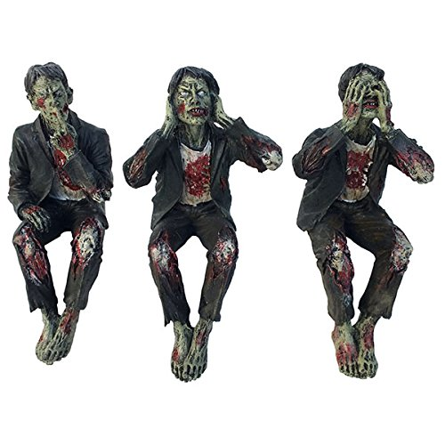 Set of Three Zombies See No, Hear No, Speak No Evil
