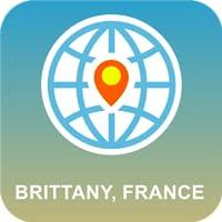 Bretagne, Frankreich Karte