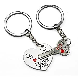 exciting Lives Silver Keychain