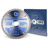 Falkenwald Lame de scie circulaire pour bois, métal et aluminium 210 x 30 mm