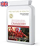 Cranberry High Strength Urinary Tract Health Support Daily Supplement | 5000mg x 90 Tablets | Natural Cranberry Extract | Prevents Recurrent Urinary Tract Infections (UTIs) And Painful Cystitis | Helps Maintain A Healthy Urinary Tract, Kidneys And Bladder | Supports Healthy Circulation And Cardiovascular Function | Manufactured In The UK To GMP Code Of Practice And ISO 9001 Quality Assurance Certification