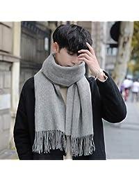 487767f765b0 QINCH Home Cheveux écharpe Automne et Hiver Sauvage épais Chaud Hiver  Couleur Unie Simple châle Bavoir