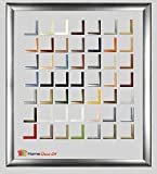 Bilderrahmen Pisa 50 x 150 Posterrahmen 150 x 50 cm - Holz Werkstoff Profil in fünfzig Farben - hier Alu gebürstet
