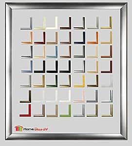 Bilderrahmen Pisa 24 x 107 Posterrahmen 107 x 24 cm - Holz Werkstoff Profil in fünfzig Farben - hier Alu gebürstet