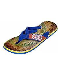 Indistar Boy Step Care Flip Flop House Slipper And Hawaai Chappal-Blue