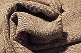 MIRABLAU DESIGN Stoffverkauf Tweed Wollstoff Fischgrat karamell braun weiß (1-007M), 0,5m