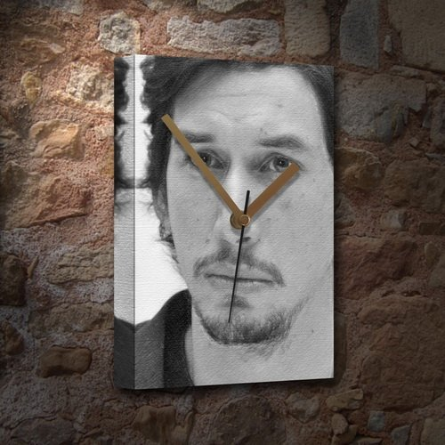 ADAM DRIVER - Canvas Clock (LARGE A3 - Signed by the Artist) #js002
