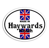 Made In Haywards Heath - Union Jack Flag Auto Aufkleber / British Car Bike Van Camper Decal Bumper Sticker
