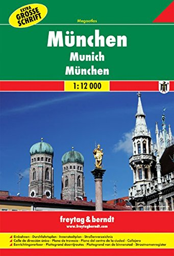 Freytag Berndt Stadtpläne, München Megaatlas, Extra Große Schrift - Maßstab 1:12 000: Stadskaart 1:12.000