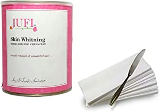 jufi skin whitening Cream wax for hair remover (800gm) waxing strips,1 waxing knife