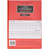 Collins 060343 Cathedral 69 Series 5 Cash Columns A4 Analysis Book, 96 Pages
