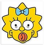 Máscara de cartón para fiestas Los Simpsons - Maggie