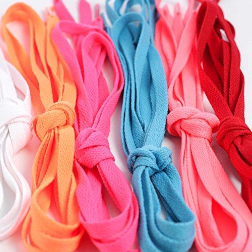 Sleeper'z - Lacet plat de couleurs pour basket ou chaussure - Longueur 115cm - Largeur 9mm - 6 couleurs