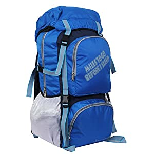 POLESTAR Rocky Polyester 60 Lt Royal Blue Rucksack/Travel/Hiking/Weekend Backpack Bag