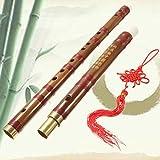 Bambusflöte handgemachte traditionelle chinesische Musikinstrument D Key Bamboo Flute 61mm OHlive
