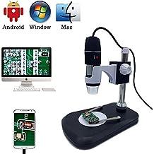 Microscope numérique USB Camera, Jiusion 40-1000X Portable Grossissement endoscope 2MP 8LED avec adaptateur professionnel, support de maintien, compatible avec Mac Window XP 7810OTG Android Linux