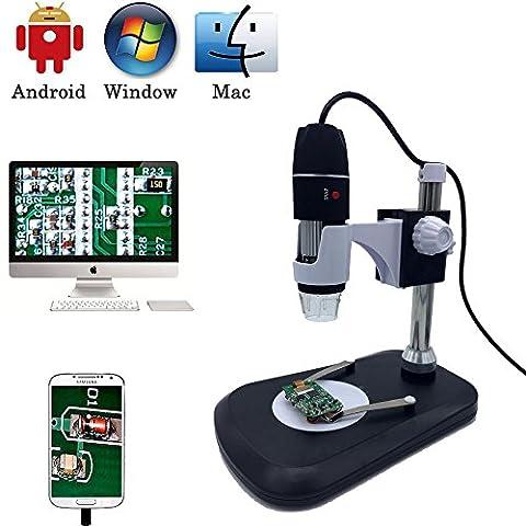 Microscope numérique USB Camera, Jiusion 40-1000X Portable Grossissement endoscope 2MP